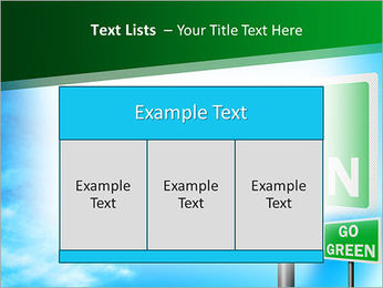 Go Green Sign PowerPoint Template - Slide 39