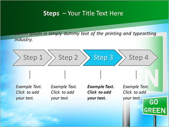 Go Green Sign PowerPoint Template - Slide 4