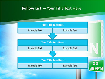 Go Green Sign PowerPoint Templates - Slide 40