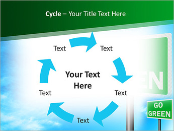 Go Green Sign PowerPoint Template - Slide 42