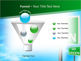 Go Green Sign PowerPoint Templates - Slide 43