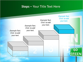 Go Green Sign PowerPoint Template - Slide 44