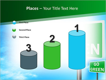 Go Green Sign PowerPoint Template - Slide 45