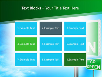 Go Green Sign PowerPoint Template - Slide 48