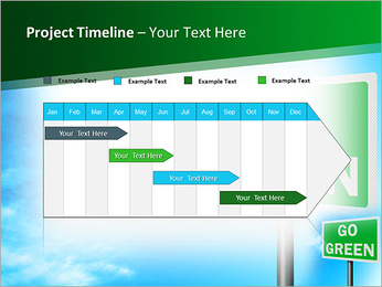 Go Green Sign PowerPoint Template - Slide 5