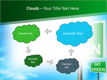 Go Green Sign PowerPoint Templates - Slide 52