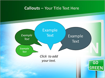 Go Green Sign PowerPoint Templates - Slide 53