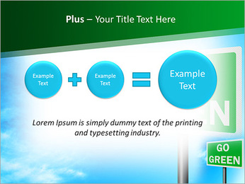 Go Green Sign PowerPoint Template - Slide 55