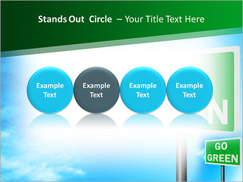 Go Green Sign PowerPoint Template - Slide 56