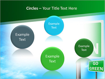 Go Green Sign PowerPoint Template - Slide 57