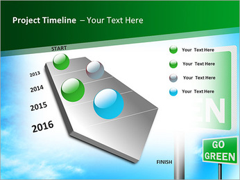 Go Green Sign PowerPoint Templates - Slide 6
