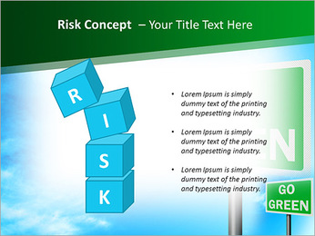 Go Green Sign PowerPoint Template - Slide 61