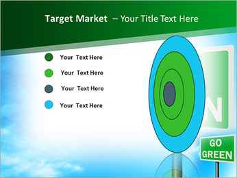 Go Green Sign PowerPoint Template - Slide 64