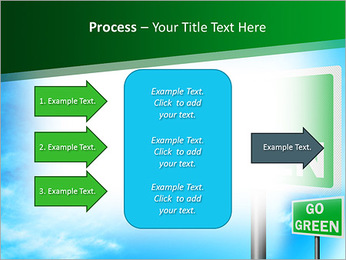 Go Green Sign PowerPoint Template - Slide 65