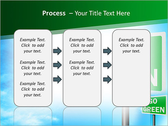 Go Green Sign PowerPoint Template - Slide 66