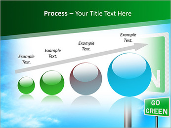 Go Green Sign PowerPoint Template - Slide 67