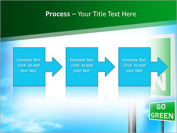 Go Green Sign PowerPoint Template - Slide 68