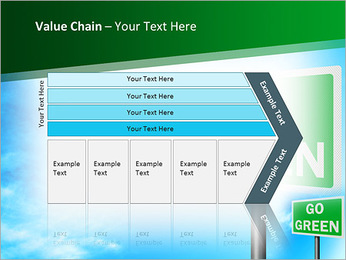 Go Green Sign PowerPoint Templates - Slide 7