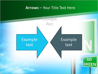 Go Green Sign PowerPoint Templates - Slide 70