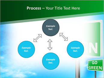 Go Green Sign PowerPoint Template - Slide 71