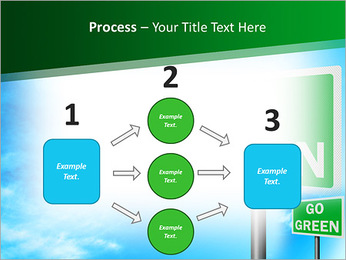 Go Green Sign PowerPoint Template - Slide 72
