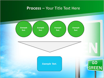 Go Green Sign PowerPoint Template - Slide 73