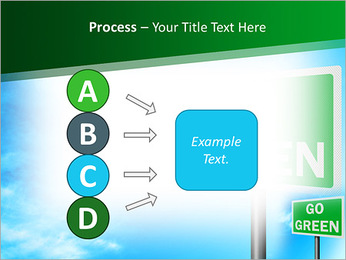 Go Green Sign PowerPoint Templates - Slide 74