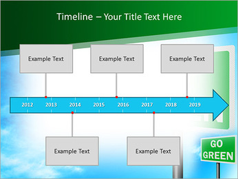 Go Green Sign PowerPoint Template - Slide 8