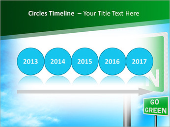 Go Green Sign PowerPoint Template - Slide 9