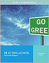 Go Green Sign Word Template - Page 1