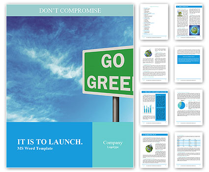 Go Green Sign Word Template