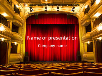 Theater Performance PowerPoint Template - Slide 1