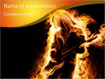 Guitar Rock Star PowerPoint Template - Slide 1
