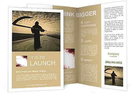 Death Image Brochure Template