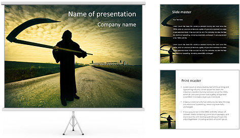 Death Image PowerPoint Template