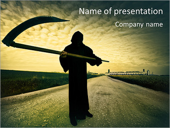 Death Image PowerPoint Template - Slide 1