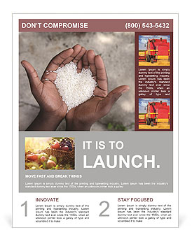 Rice Flyer Template
