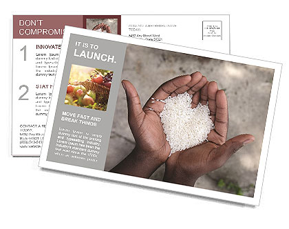 Rice Postcard Template
