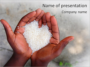 Rice PowerPoint Template - Slide 1