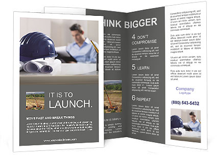 Construction Expert Brochure Template