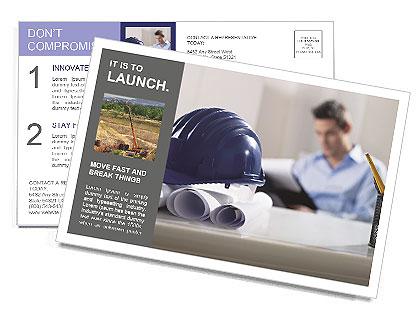 Construction Expert Postcard Template