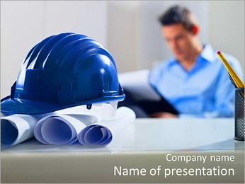 Construction Expert PowerPoint Template