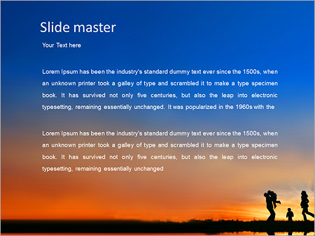 family vacation powerpoint template backgrounds google slides