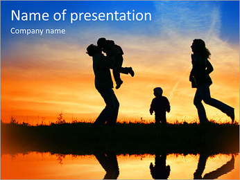 Family Vacation PowerPoint Template - Slide 1