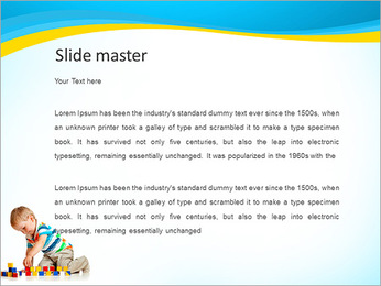Boy Plays Lego PowerPoint Template - Slide 2