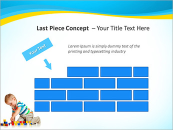 Boy Plays Lego PowerPoint Template - Slide 26