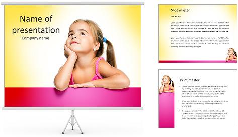 Cute Girl PowerPoint Template