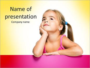 Cute Girl PowerPoint Template - Slide 1