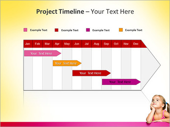 Cute Girl PowerPoint Template - Slide 5