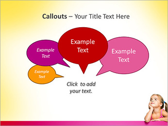 Cute Girl PowerPoint Template - Slide 53